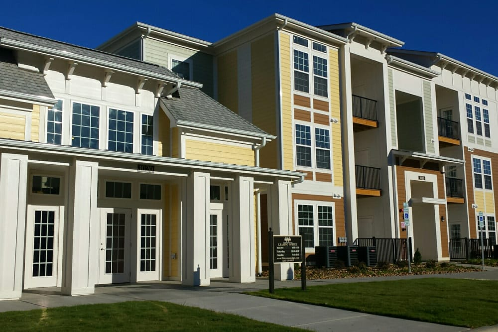 Beautiful apartment building at Watercourse Apartments in Graham, North Carolina