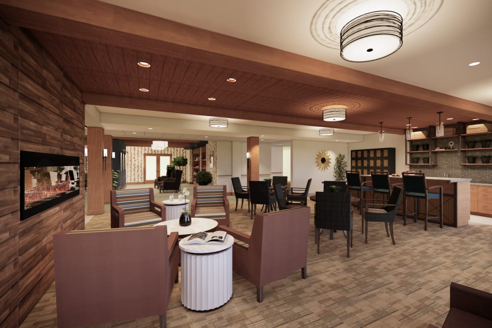 Lounge at Broadwell Senior Living in Plymouth, Minnesota