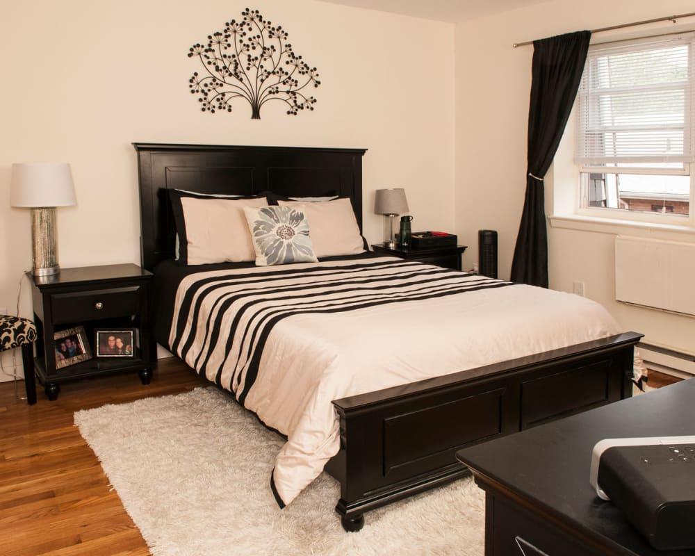 Fancy bedroom at Prospect Ridge Apartments in Hackensack, New Jersey