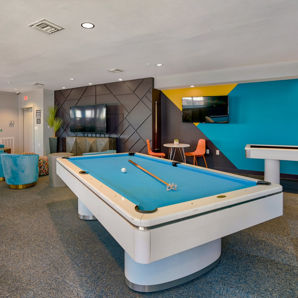 Indigo 19's game room in Virginia Beach, Virginia
