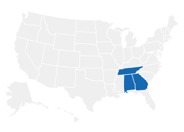 S & S Property Management offers apartments in Tennessee, Georgia, and Alabama
