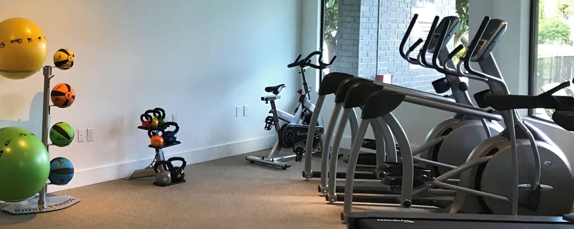 Fitness center at Collection at Overlook