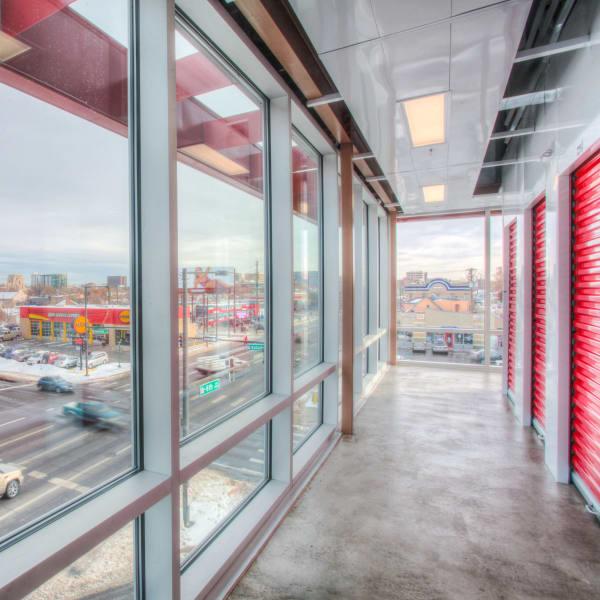 Interior units facing windows at StorQuest Self Storage in Denver, Colorado