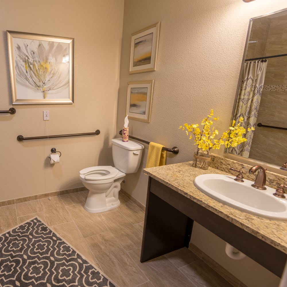 Resident bathroom at Inspired Living in Kenner, Louisiana