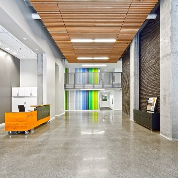 Lobby area at The Nolo at Stadium Place in Seattle, Washington