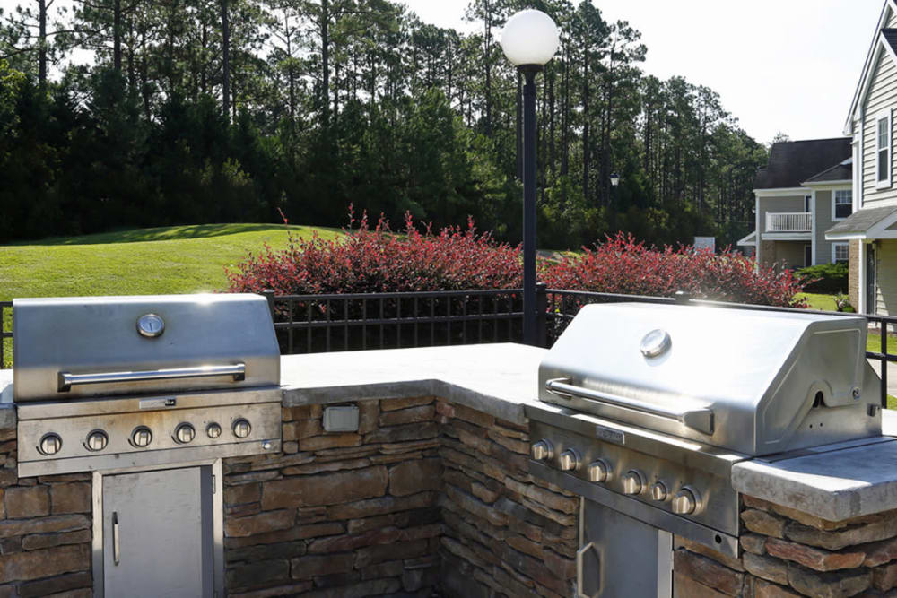 Community BBQ area at Park at Clearwater in Aberdeen, North Carolina