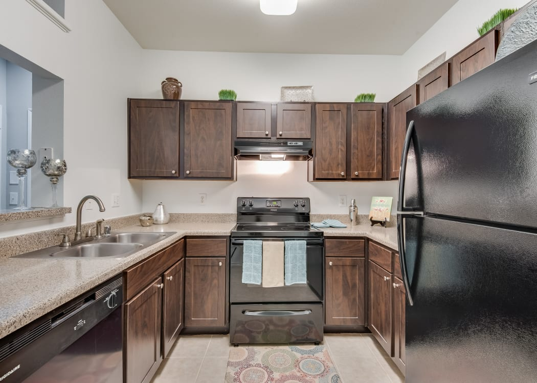 Spacious kitchen at Ravinia Apartments