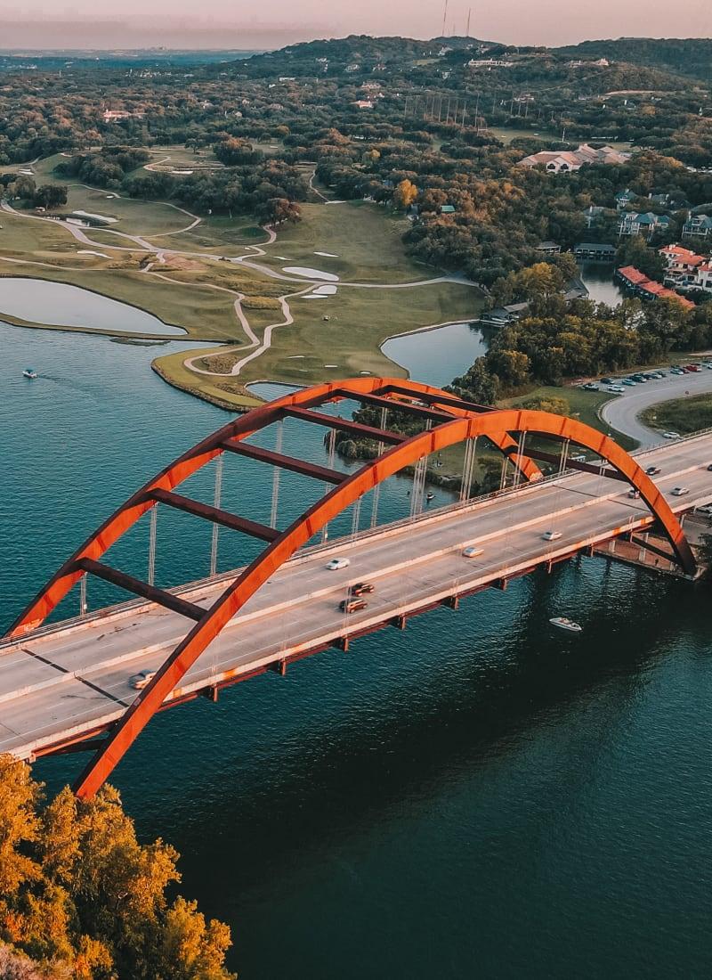 Bridge near Marquis SoCo in Austin, Texas