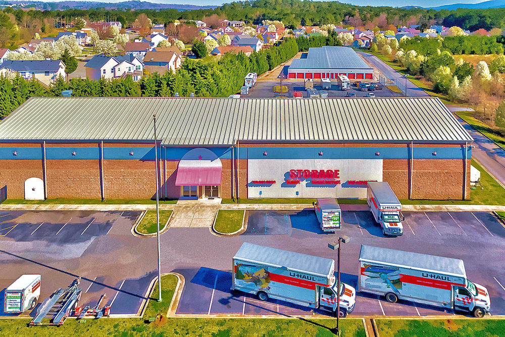 Aerial view of  Prime Storage in Cartersville, Georgia