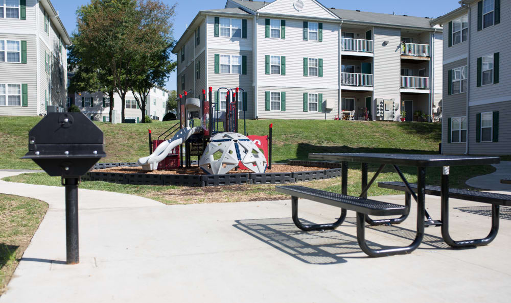 View of our wonderful playground at England Run North Apartments