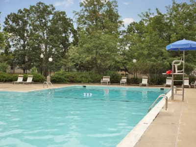 Villages at Montpelier Apartment Homes offers a swimming pool in Laurel, MD