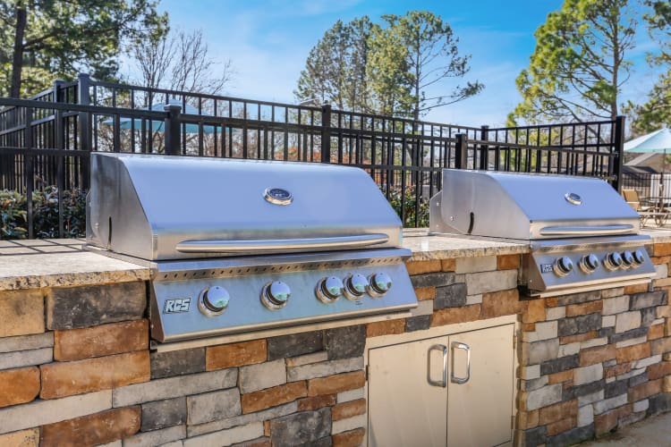 Outdoor grill at The Flats at Arrowood in lCharlotte North Carolina