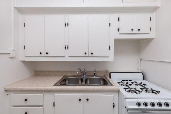 Kitchen layout at Concord & Castle in Des Moines, Iowa