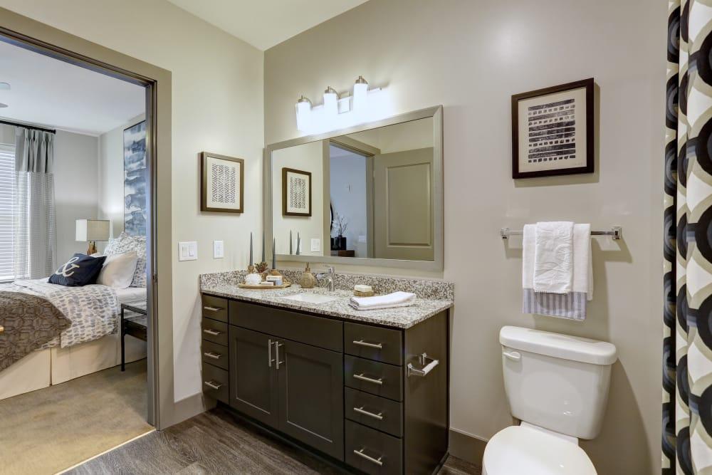 Luxury bathroom at Novel Bellevue in Nashville, Tennessee
