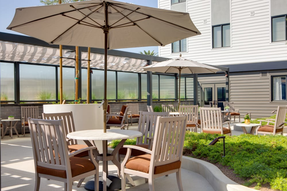 Sunny patio for resident enjoyment at Sage Glendale in Glendale, California