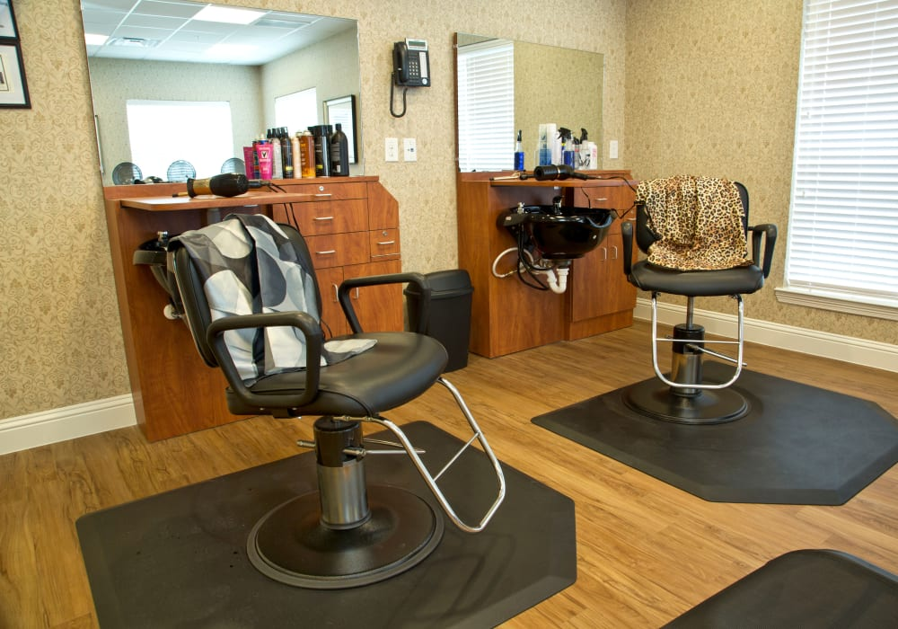 The onsite hair salon at The Village of Meyerland in Houston, Texas