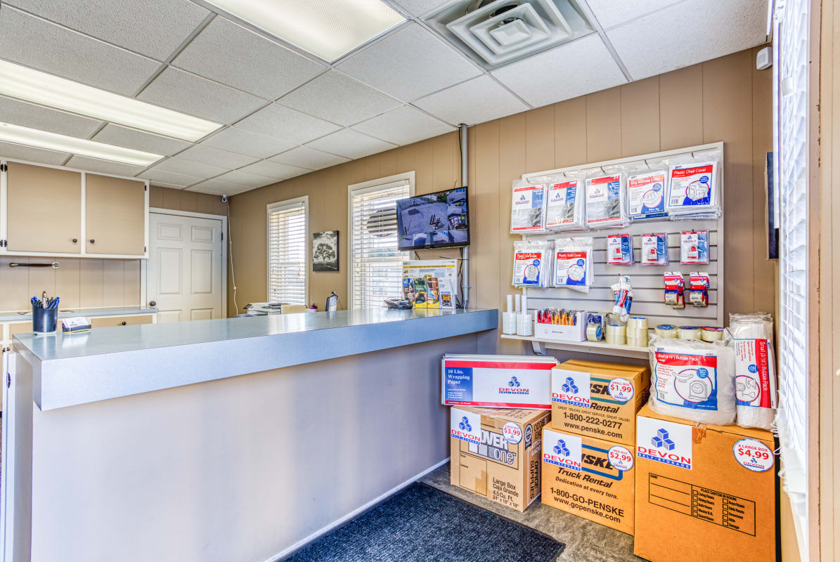 Packing supplies at Devon Self Storage in Jenison, Michigan