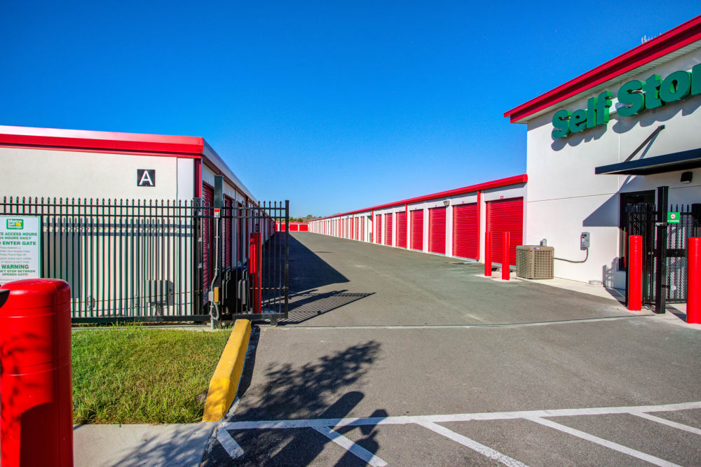 Keypad access to gated area at Metro Self Storage in Riverview