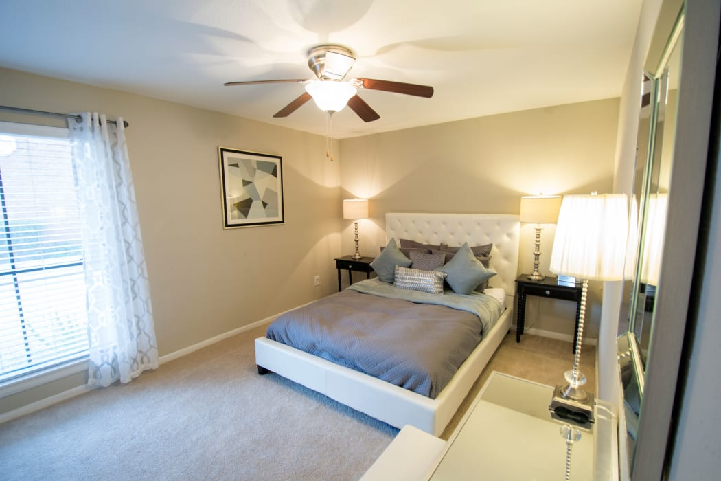 Spacious bedrooms with natural light at Stonecrossing of Westchase in Houston, Texas