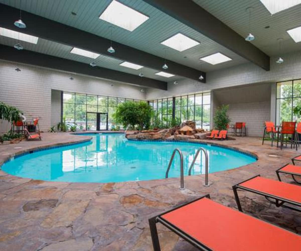Indoor pool at Silver Springs Apartments in Wichita, Kansas