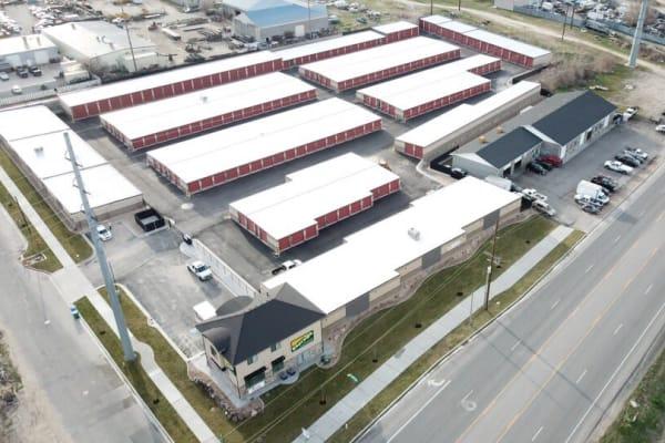 Aerial view of Towne Storage in Orem, Utah
