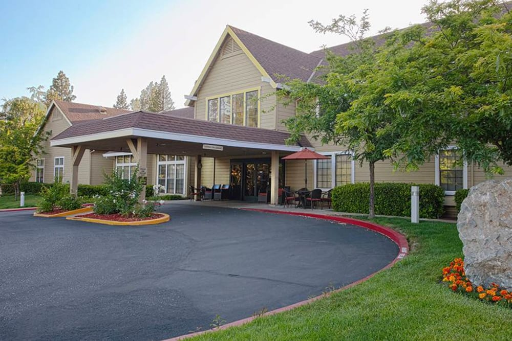 Entrance to Hilltop Commons Senior Living in Grass Valley, California