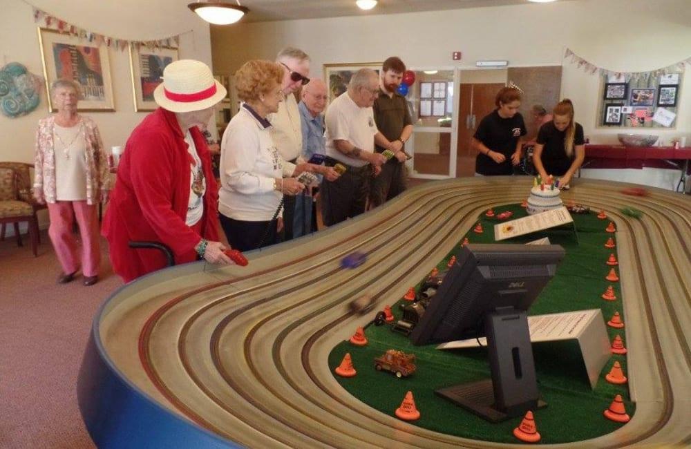 Awesome racecar event at Roseville Commons Senior Living in Roseville, California
