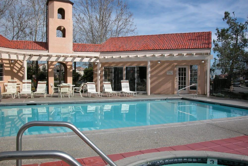Outdoor swimming pool at Berkshire Laurel Creek Fairfield, California