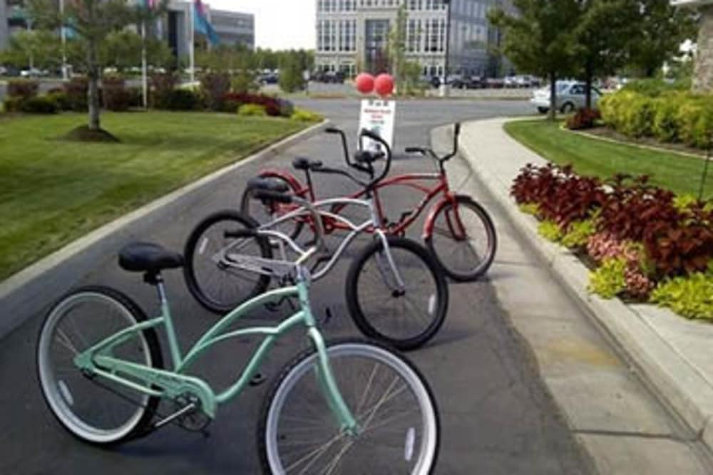 Rental bikes at Fairstone at Riverview Apartments in Taylorsville, Utah
