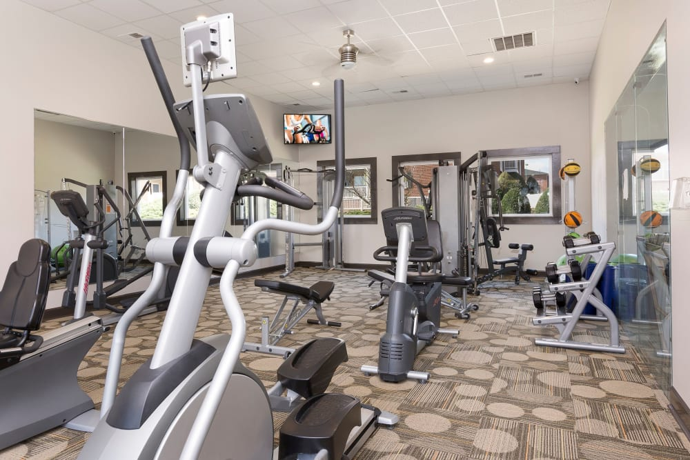 State of the art fitness center at Ascend @ 1801 in Charlotte, North Carolina