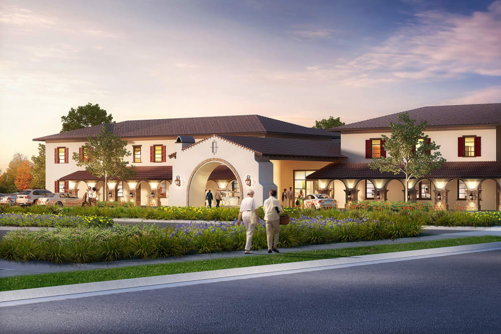 Exterior of building at Regency Palms Colton in Colton, California.