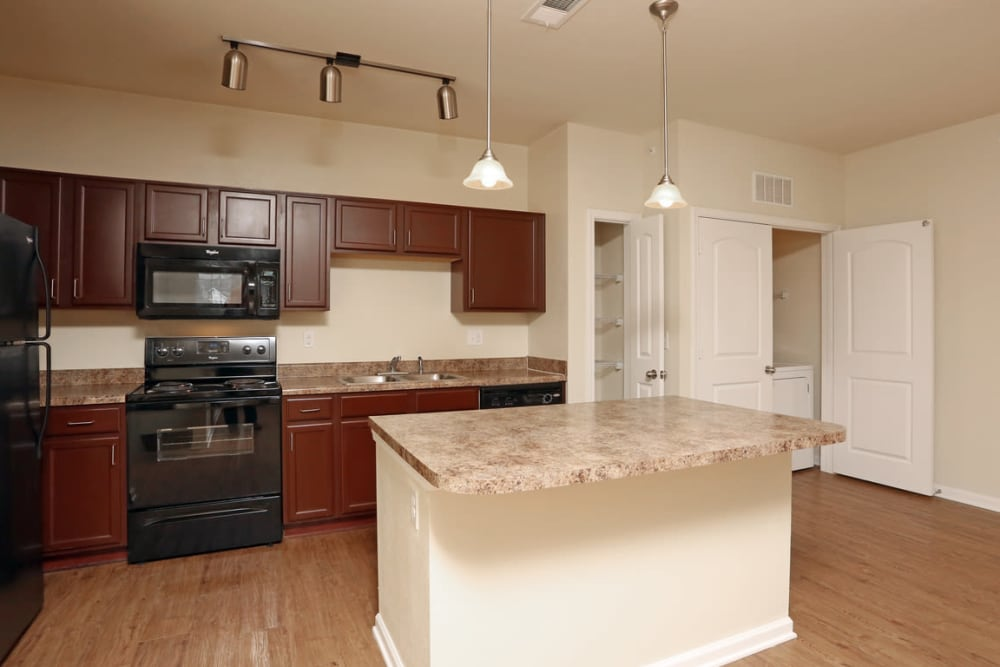 Kitchen Area at Springs at Bettendorf in Bettendorf