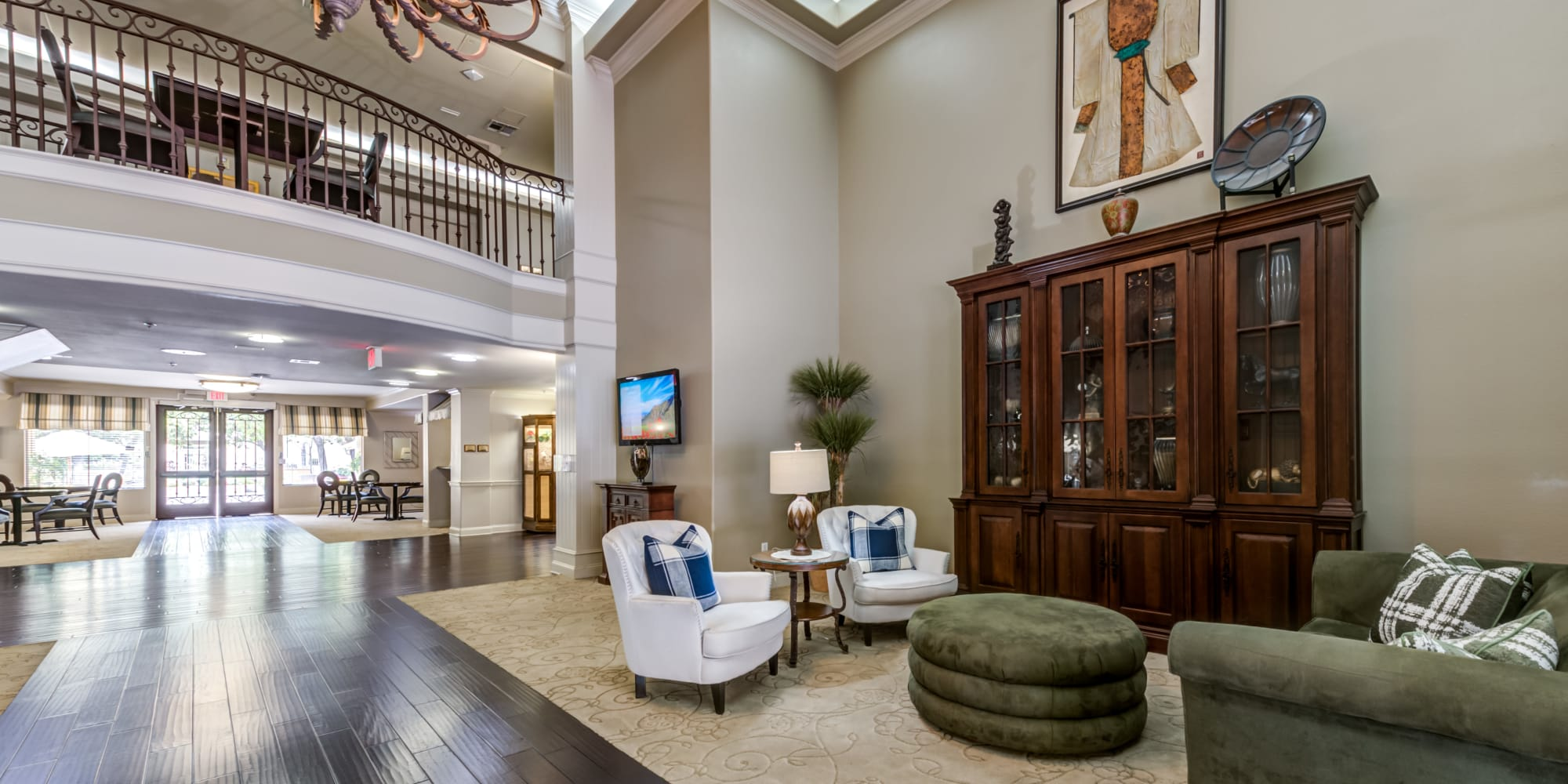 Lobby area of Cypress Place in Ventura, California