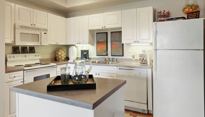 Stunning, spacious kitchen at The Lyndon in Irving, Texas