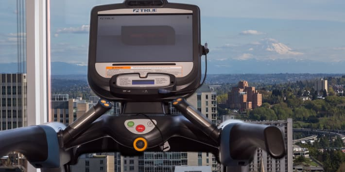Views from Cielo's fitness center in Seattle, Washington