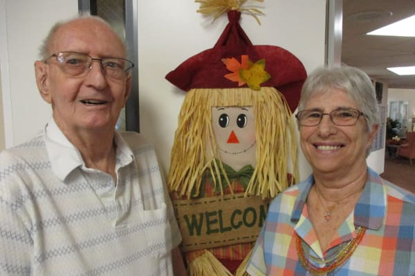Vita and George Harmon at Salishan Gracious Retirement Living in Spring Hill, Florida