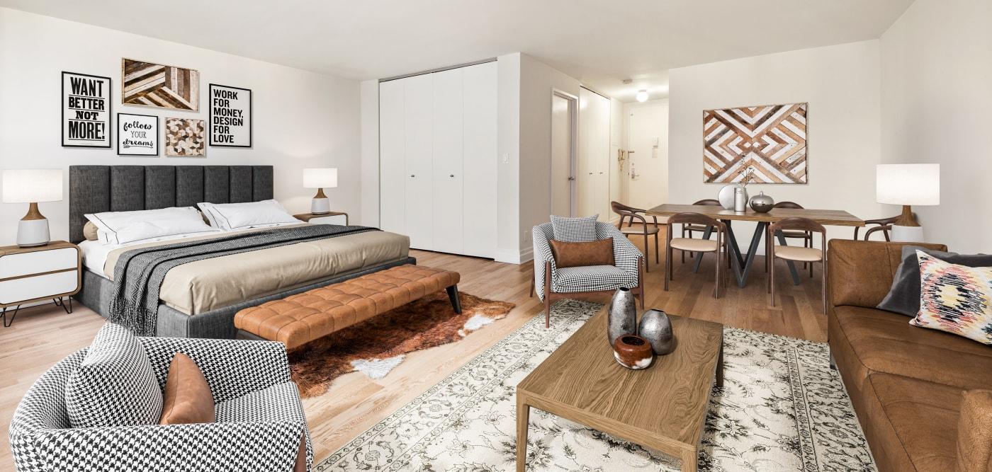 Spacious studio apartment at The Ellington in New York, New York