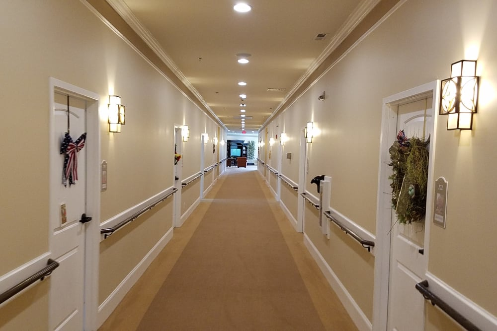 Hallway at Blue Ridge Assisted Living