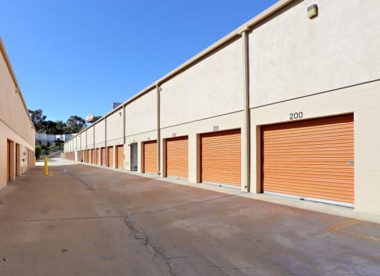 Outdoor storage units at A-1 Self Storage in San Diego, California