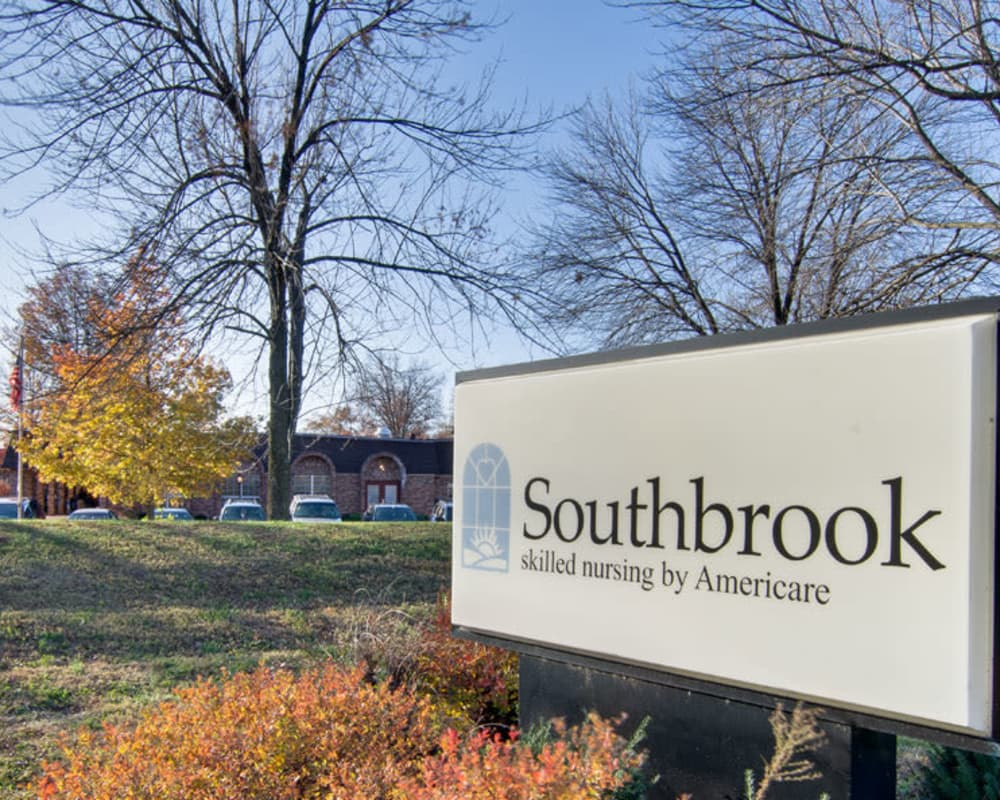 Front entrance at Southbrook in Farmington, Missouri