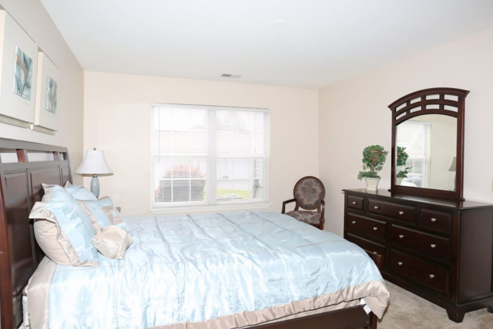 Bedroom layout at Bennington Hills Apartments in West Henrietta, New York