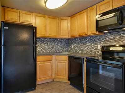 The Colony at Towson Apartments & Townhomes offers a renovated kitchen in Towson, Maryland