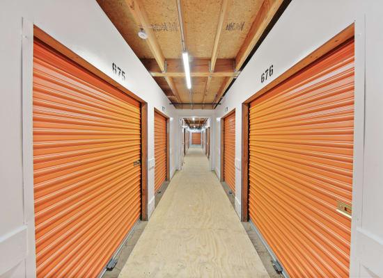 Clean hallways through self storage units at A-1 Self Storage in La Mesa, California