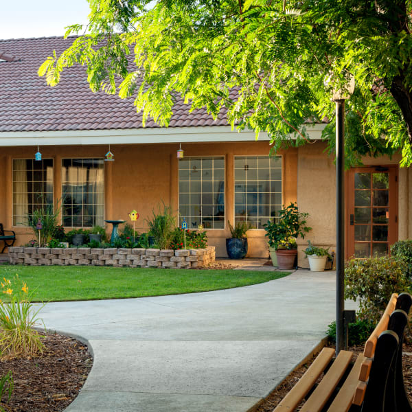 A community building at Pacifica Senior Living Menifee in Sun City, California.