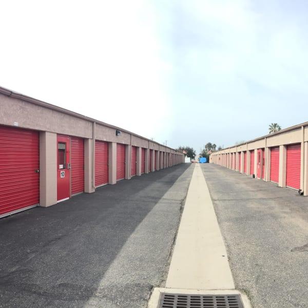 Drive-up access storage units at StorQuest Self Storage in Camarillo, California