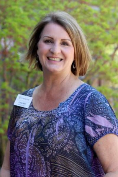 Cindy Hall, Community Relations Director The Springs at Veranda Park in Medford, Oregon