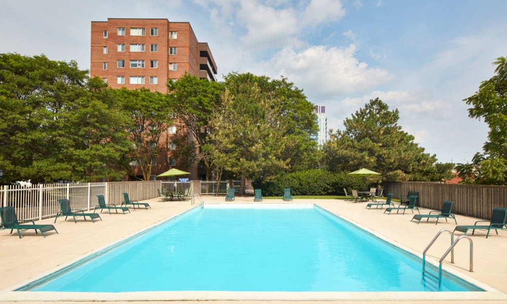 State-of-the-art swimming pool at Richmond Hill Apartments in Richmond Hill, Ontario