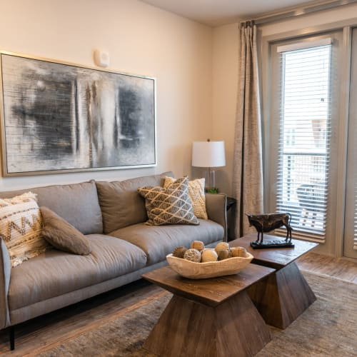 View virtual tour for our A1, One Bedroom home at Shelby at Northside in Fort Worth, Texas