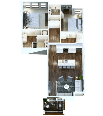 Open 2-Bedroom Apartment in Nashville, Tennessee at Rivertop Apartments