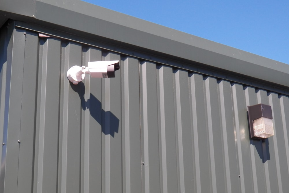 Security camera view at Breezy Hill Self Storage in Graniteville, South Carolina